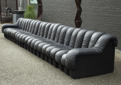 de Sede De Sede DS 600 Non Stop Tatzelwurm Sectional Sofa in Black Leather 22 Sections - 2115683