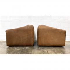 de Sede De Sede Ds 45 Leather Lounge Chairs a Pair - 1692092
