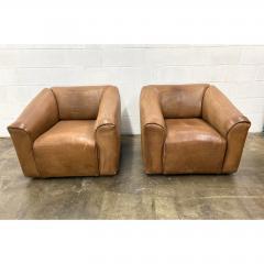de Sede De Sede Ds 45 Leather Lounge Chairs a Pair - 1692093