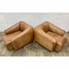 de Sede De Sede Ds 45 Leather Lounge Chairs a Pair - 1692094