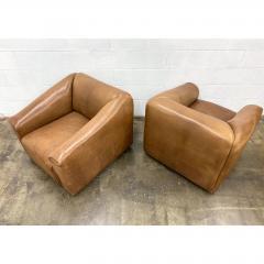 de Sede De Sede Ds 45 Leather Lounge Chairs a Pair - 1692095
