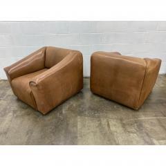 de Sede De Sede Ds 45 Leather Lounge Chairs a Pair - 1692096