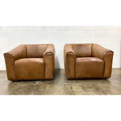 de Sede De Sede Ds 45 Leather Lounge Chairs a Pair - 1692112
