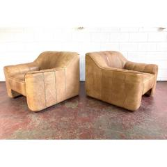 de Sede De Sede Leather Lounge Chairs Model Ds 44 a Pair - 1682409