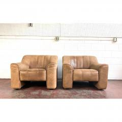 de Sede De Sede Leather Lounge Chairs Model Ds 44 a Pair - 1682410