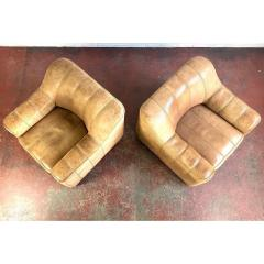 de Sede De Sede Leather Lounge Chairs Model Ds 44 a Pair - 1682413