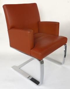 de Sede De Sede of Switzerland Cantilevered Leather and Stainless Steel Chairs 4 - 1073802