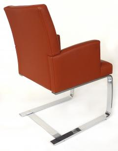 de Sede De Sede of Switzerland Cantilevered Leather and Stainless Steel Chairs 4 - 1073806