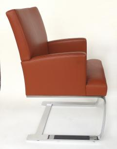 de Sede De Sede of Switzerland Cantilevered Leather and Stainless Steel Chairs 4 - 1073808