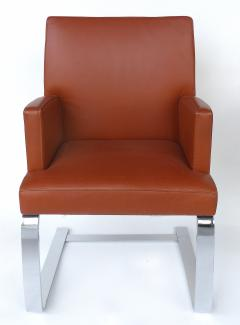 de Sede De Sede of Switzerland Cantilevered Leather and Stainless Steel Chairs 4 - 1073812