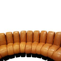 de Sede Iconic De Sede Non Stop Sofa in Leather 1970s - 665309