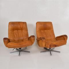 de Sede Midcentury Set of Two De Sede S 231 James Bond Swivel Arm Lounge Chairs 1960s - 1177593