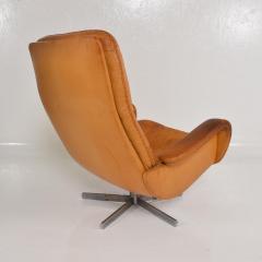de Sede Midcentury Set of Two De Sede S 231 James Bond Swivel Arm Lounge Chairs 1960s - 1177596