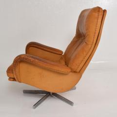 de Sede Midcentury Set of Two De Sede S 231 James Bond Swivel Arm Lounge Chairs 1960s - 1177598