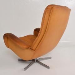 de Sede Midcentury Set of Two De Sede S 231 James Bond Swivel Arm Lounge Chairs 1960s - 1177599