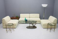 de Sede Set of Four Cream White Leather Modular Sofa Elements DS 76 De Sede Switzerland - 1167598