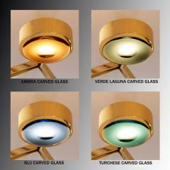 form A Eclissi Ceiling Light Carved Glass Version - 1270140