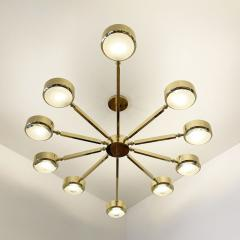form A Oculus Articulating Ceiling Light Oval Version with Carved Glass - 2113614