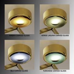 form A Oculus Articulating Ceiling Light Oval Version with Carved Glass - 2113615