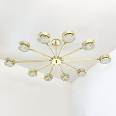 form A Oculus Articulating Ceiling Light Oval Version with Carved Glass - 2113618