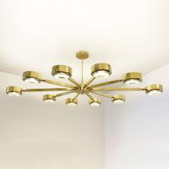 form A Oculus Articulating Ceiling Light Oval Version with Carved Glass - 2113619