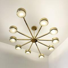 form A Oculus Articulating Ceiling Light Oval Version with Carved Glass - 2113620
