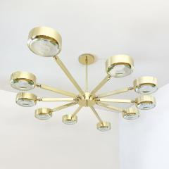 form A Oculus Articulating Ceiling Light Oval Version with Carved Glass - 2113621