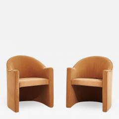 i4 Mariani Pace Barrel Back Lounge Chairs by Mariani Italy 1980 - 1962674