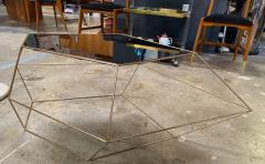 ma 39 Italian Rhomboidal sculptural brass and glass coffee table  - 1171510