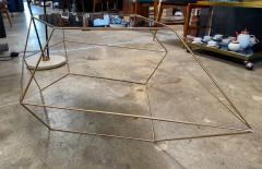 ma 39 Italian Rhomboidal sculptural brass and glass coffee table  - 1171513