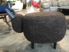 ma 39 Ma39 Pouf in Carved Wood Dark Brown Sheep Italy 21st Century - 1569318