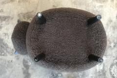 ma 39 Ma39 Pouf in Carved Wood Dark Brown Sheep Italy 21st Century - 1569319