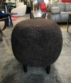 ma 39 Ma39 Pouf in Carved Wood Dark Brown Sheep Italy 21st Century - 1569322