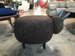 ma 39 Ma39 Pouf in Carved Wood Dark Brown Sheep Italy 21st Century - 1569324