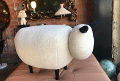 ma 39 Ma39 Pouf in Carved Wood Sheep Italy 21st Century - 1166545