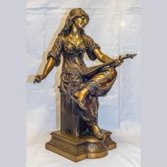 mile Coriolan Hippolyte Guillemin Fine Quality Pair of Patinated Bronze of Female Gypsies - 1436236