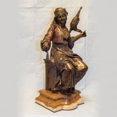 mile Coriolan Hippolyte Guillemin Fine Quality Pair of Patinated Bronze of Female Gypsies - 1436241