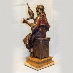 mile Coriolan Hippolyte Guillemin Fine Quality Pair of Patinated Bronze of Female Gypsies - 1436242