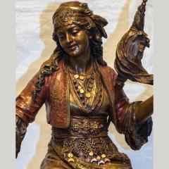 mile Coriolan Hippolyte Guillemin Fine Quality Pair of Patinated Bronze of Female Gypsies - 1436244