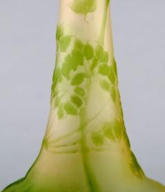 mile Gall Emile Gall art glass vase with narrow neck - 1322071