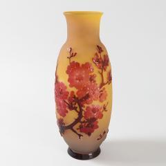 mile Gall French Art Nouveau Fleurs de Pommier Cameo Glass Vase by mile Gall  - 856763