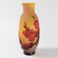 mile Gall French Art Nouveau Fleurs de Pommier Cameo Glass Vase by mile Gall  - 856764