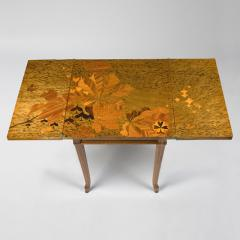 mile Gall French Art Nouveau Games Table by Gall  - 186400