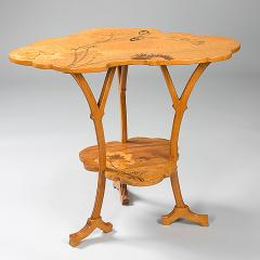 mile Gall French Art Nouveau Wooden Ombelle Table - 123964