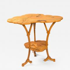mile Gall French Art Nouveau Wooden Ombelle Table - 124302