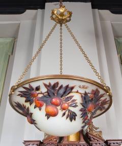 mile Gall L 02 Rare Art Nouveau Chandelier by Gall  - 259838