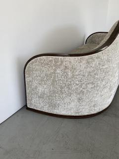 mile Jacques Ruhlmann 1940s French Macassar Sofa Style of Ruhlmann - 1951596