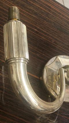 mile Jacques Ruhlmann E J Rulhmann 3 lights silvered bronze sconce - 1126783