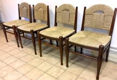 mile Jacques Ruhlmann J E Ruhlmann Rare Set of Four Chairs Model Rendez vous des p cheurs de truite  - 367101