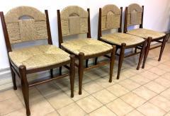 mile Jacques Ruhlmann J E Ruhlmann Rare Set of Four Chairs Model Rendez vous des p cheurs de truite  - 367102